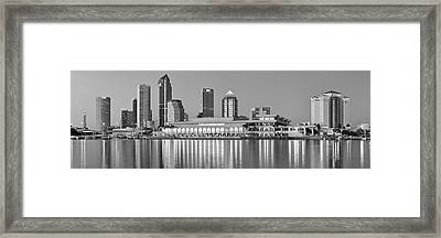 Tampa Panorama Framed Print by Frozen in Time Fine Art Photography