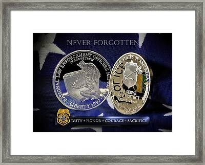 Tampa Police Memorial Framed Print by Gary Yost