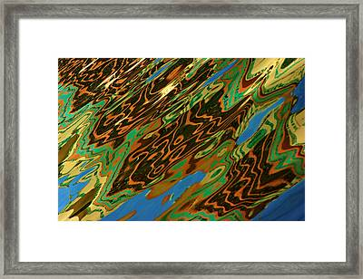 Framed Print featuring the photograph Tampa Reflection Abstract IIi by Daniel Woodrum