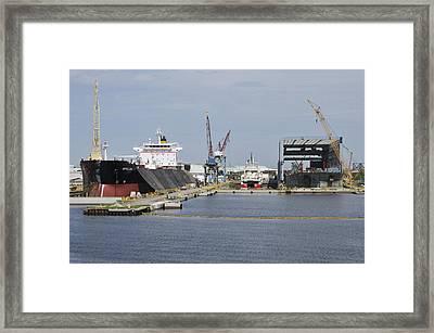 Tampa Shipyard Framed Print