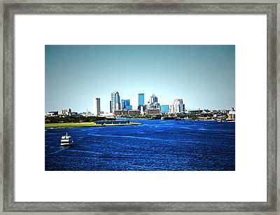 Tampa Skyline Framed Print by Aimee L Maher Photography and Art Visit ALMGallerydotcom
