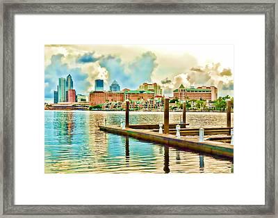 Tampa Skyline Framed Print by Robert Palmeri