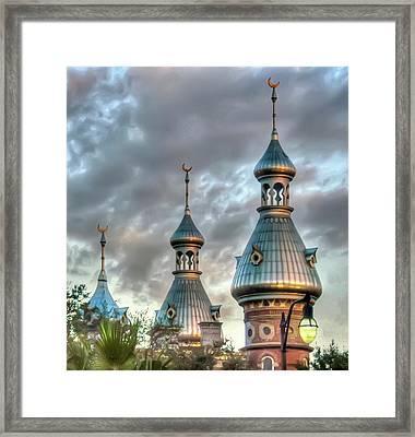Tampa University Minarets Framed Print by Geraldine Alexander