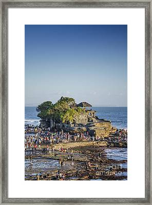 Tanah Lot Temple In Bali Indonesia Coast Framed Print