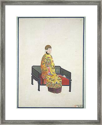Tang Empress Framed Print by British Library