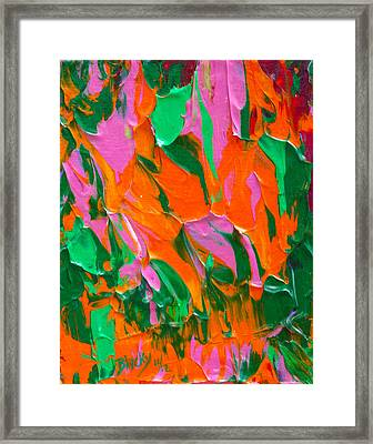 Tangerine And Lime Framed Print by Donna Blackhall