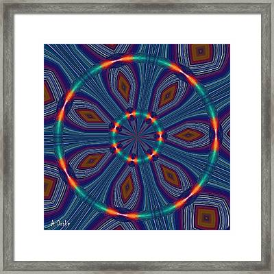 Tangerine And Turquoise Dream Framed Print by Alec Drake