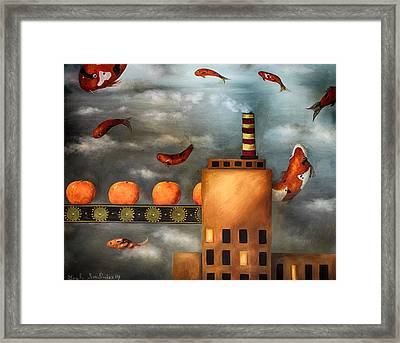 Tangerine Dream Edit 2 Framed Print by Leah Saulnier The Painting Maniac