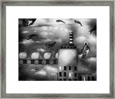 Tangerine Dream Edit 3 Framed Print by Leah Saulnier The Painting Maniac