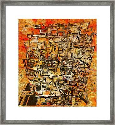 Tangerine Dream Framed Print by Jack Zulli