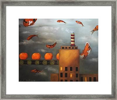 Tangerine Dream Framed Print by Leah Saulnier The Painting Maniac