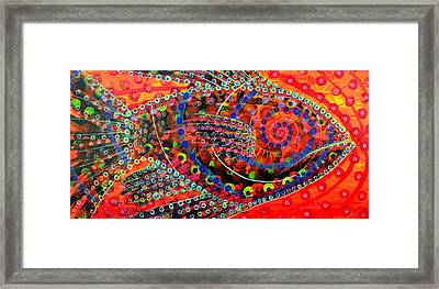 Tangerine Fish Framed Print by Jeremy Smith
