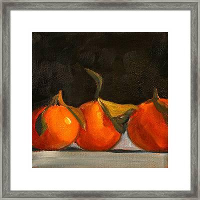 Tangerine Party Framed Print