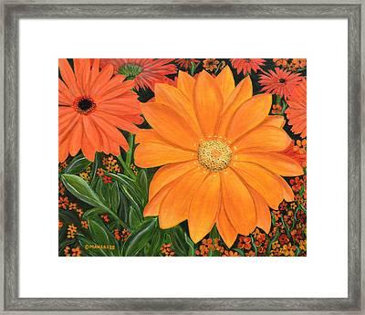 Tangerine Punch Framed Print
