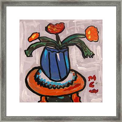 Tangerine Table Framed Print by Mary Carol Williams