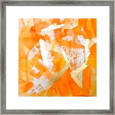 Tangerine Tango Framed Print by Roleen  Senic
