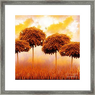 Tangerine Trees And Marmalade Skies Framed Print