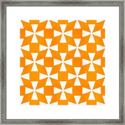 Tangerine Twirl Framed Print by Linda Woods