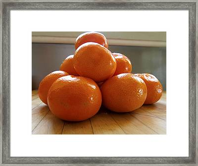 Tangerined Framed Print by Joe Schofield