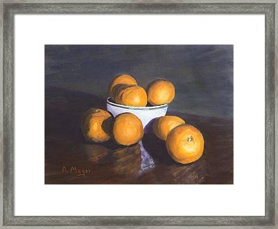 Tangerines Framed Print by Alan Mager