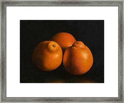 Tangerines Framed Print by Anthony Enyedy