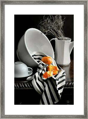 Tangerines Framed Print by Diana Angstadt