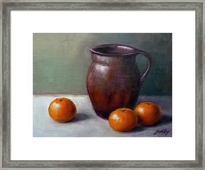 Framed Print featuring the painting Tangerines by Janet King
