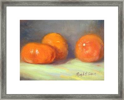 Tangerines Framed Print by Michele Tokach