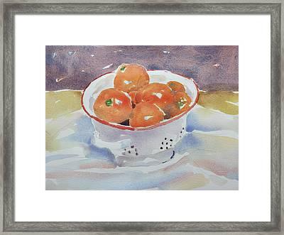 Tangerines Framed Print by Owen Hunt