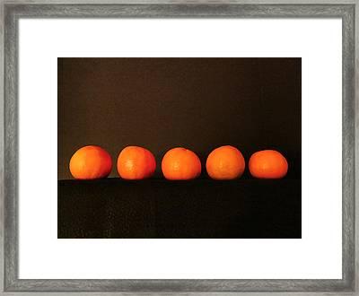 Tangerines Framed Print by Patricia Januszkiewicz