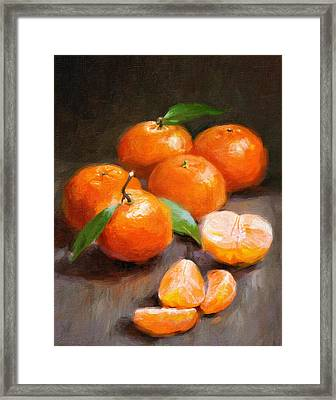 Tangerines Framed Print by Robert Papp
