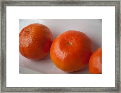 Framed Print featuring the photograph Tangerines3 by Lena Wilhite