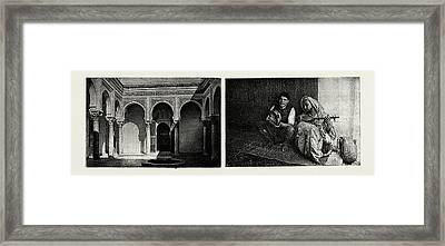 Tangier, Morocco, A Moroccan Port On The Strait Of Gibraltar Framed Print by Litz Collection