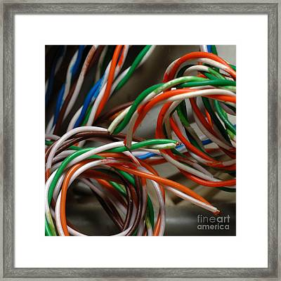 Tangle Of Colorful Wires Framed Print