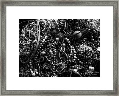 Tangled Baubles - Bw Framed Print by Christopher Holmes