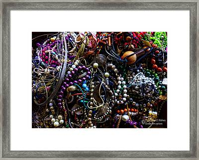 Tangled Baubles Framed Print by Christopher Holmes
