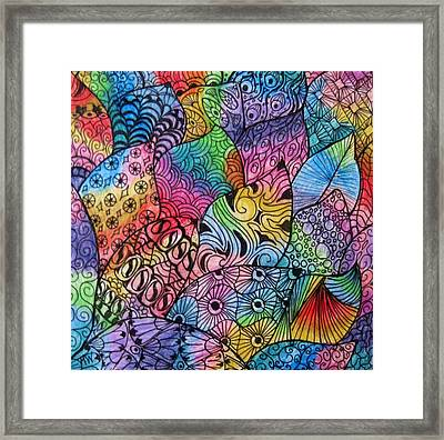 Tangled Leaves Framed Print