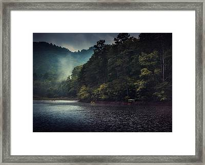 Tanglewood Lake Framed Print by William Schmid