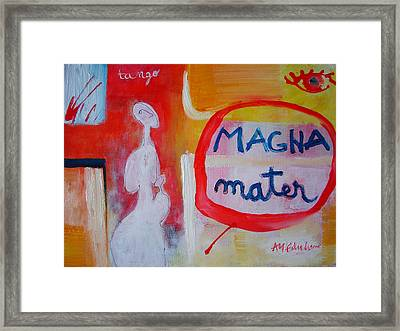 Framed Print featuring the painting Tango by Ana Maria Edulescu