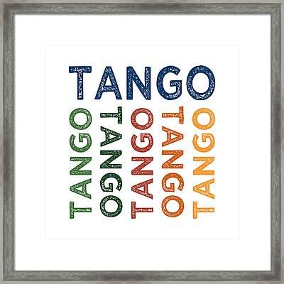 Tango Cute Colorful Framed Print