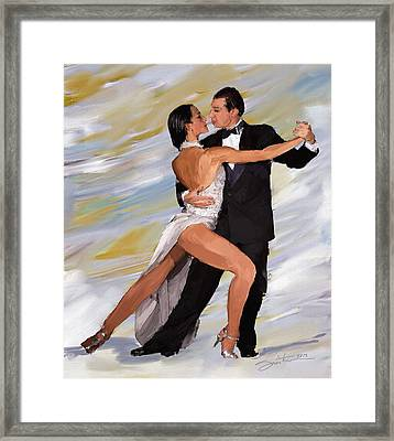 Tango Dancers Framed Print by Robert Smith