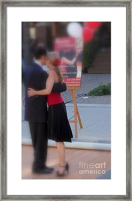 Tango Dancing On The Street Framed Print by Lingfai Leung