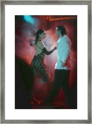 Tango Dancing Framed Print