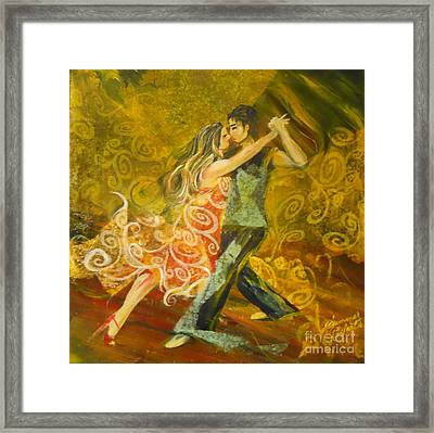 Tango Flow Framed Print by Summer Celeste