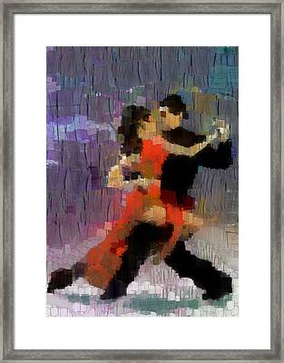 Framed Print featuring the painting Tango by Georgi Dimitrov