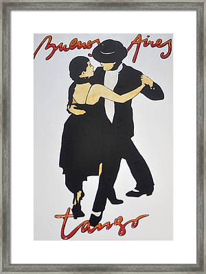 Tango In Buenos Aires Framed Print