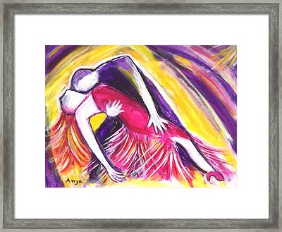 Framed Print featuring the painting Tango Love by Anya Heller