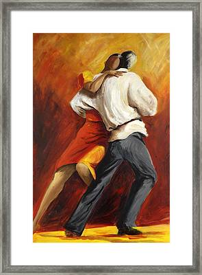 Framed Print featuring the painting Tango by Sheri  Chakamian