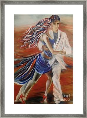 Tango Whirl Wind Framed Print by Summer Celeste