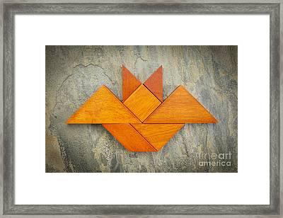 Tangram Bat Abstract Framed Print